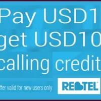 buy1get10Rebtel credit